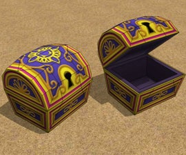 Papercraft Video Game Treasure Chests