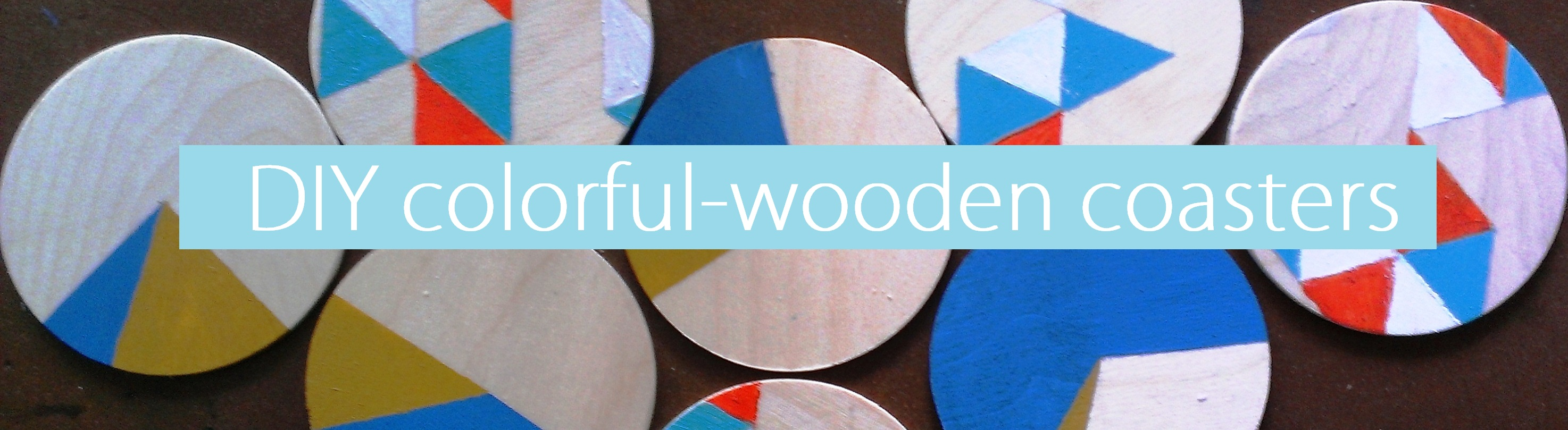 Picture of DIY Colorful-wooden Coasters