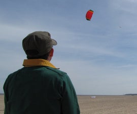 Solo-launch a two-line kite