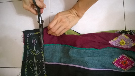 Cut Out the Embroidery Patterns