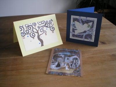 Reuse Christmas Greeting Cards / Reutiliza Las Tarjetas De Felicitacion De Navidad