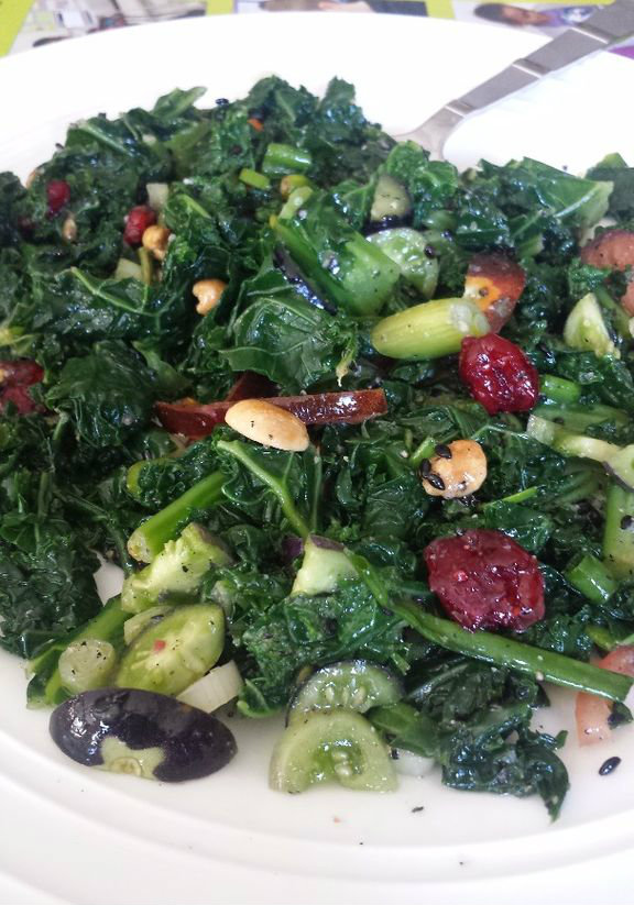 Picture of Asian Kale Salad With Homemake Sesame Dressing