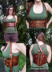 Leather Underbust Harness