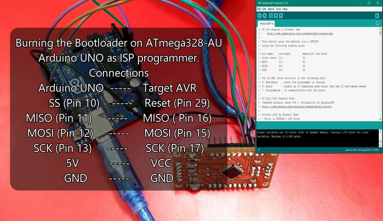 Picture of Burning the Bootloader on ATMega328-AU (Arduino Nano)