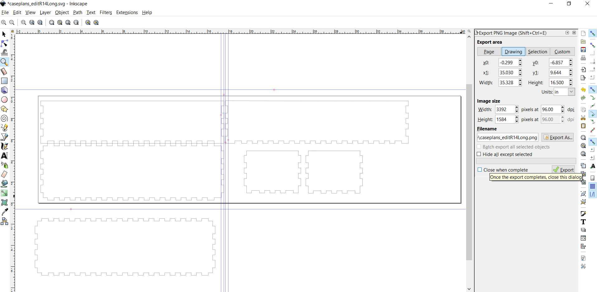 Picture of Create Box Cut File