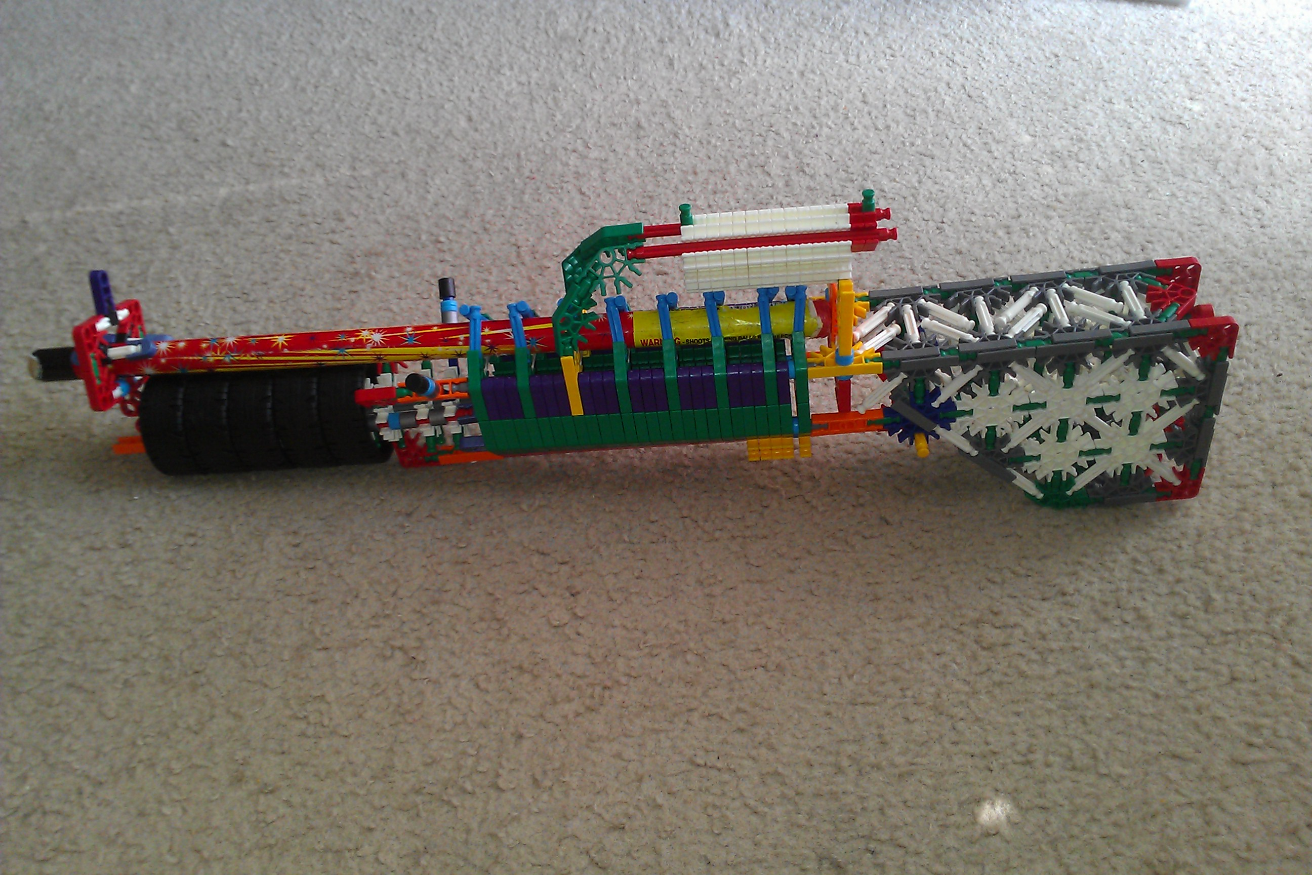 Picture of The NK Banshee: a Roman Candle Shooting K'nex Gun
