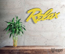 DIY Relax - Papercraft Project