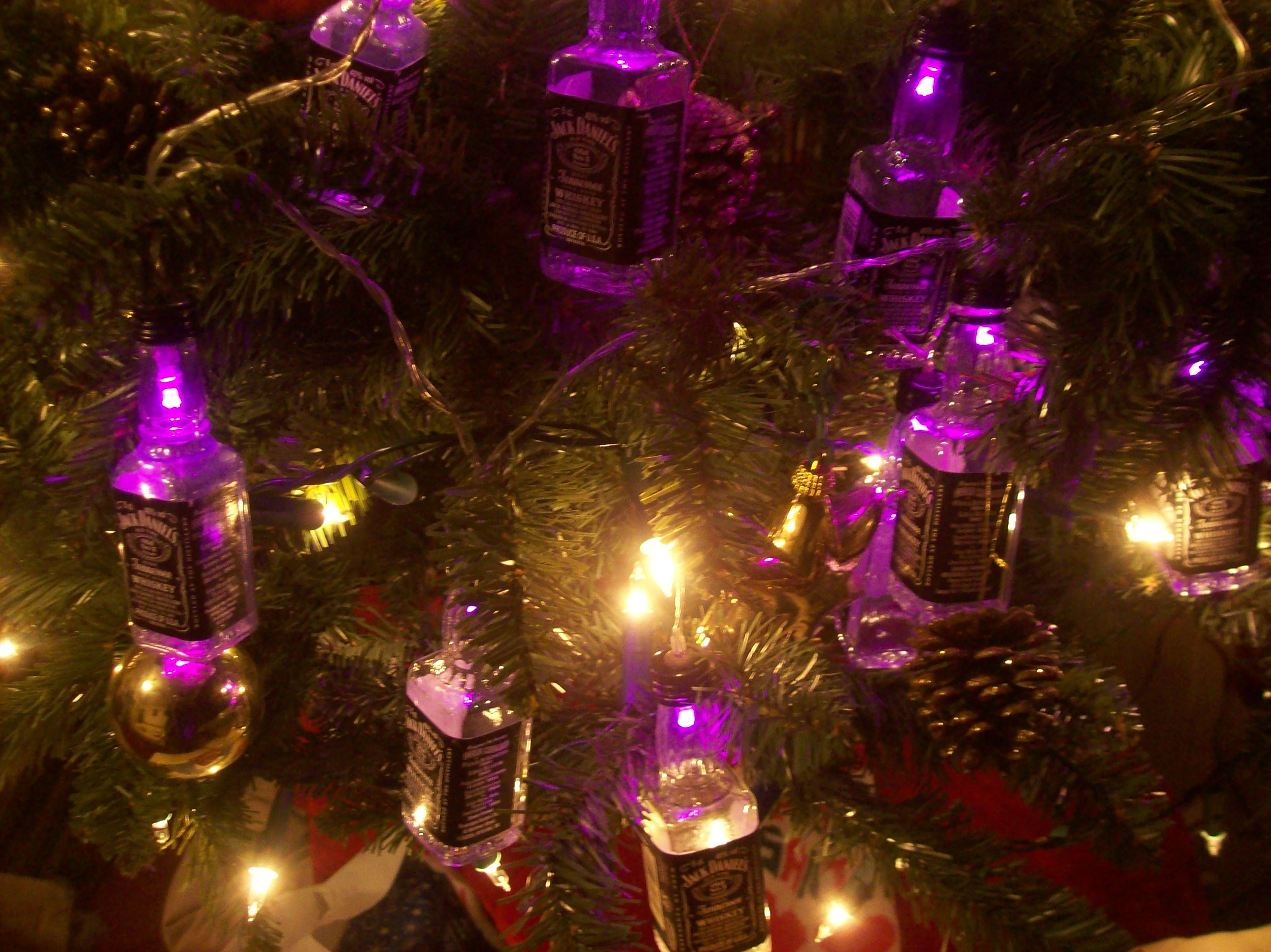 Picture of Jack Daniels Christmas Lights!
