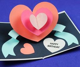 DIY Pop Up Heart Birthday Card
