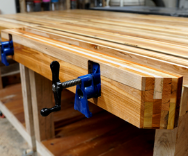 Pallet Wood Pipe Clamp Workbench Vise