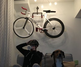 Bike Wall Mount Out of Pipes