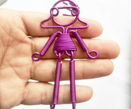 Aluminum Wire Winding Cute Girl or Boy Pendant