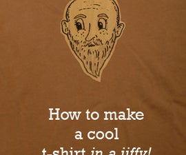 How To Make A Cool But Temporary T-Shirt (in a jiffy!)