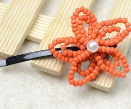 Autumn DIY: Make Orange Flower Hair Clip