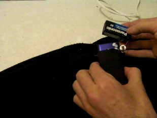 Picture of Make the Pocket and Put the Battery In