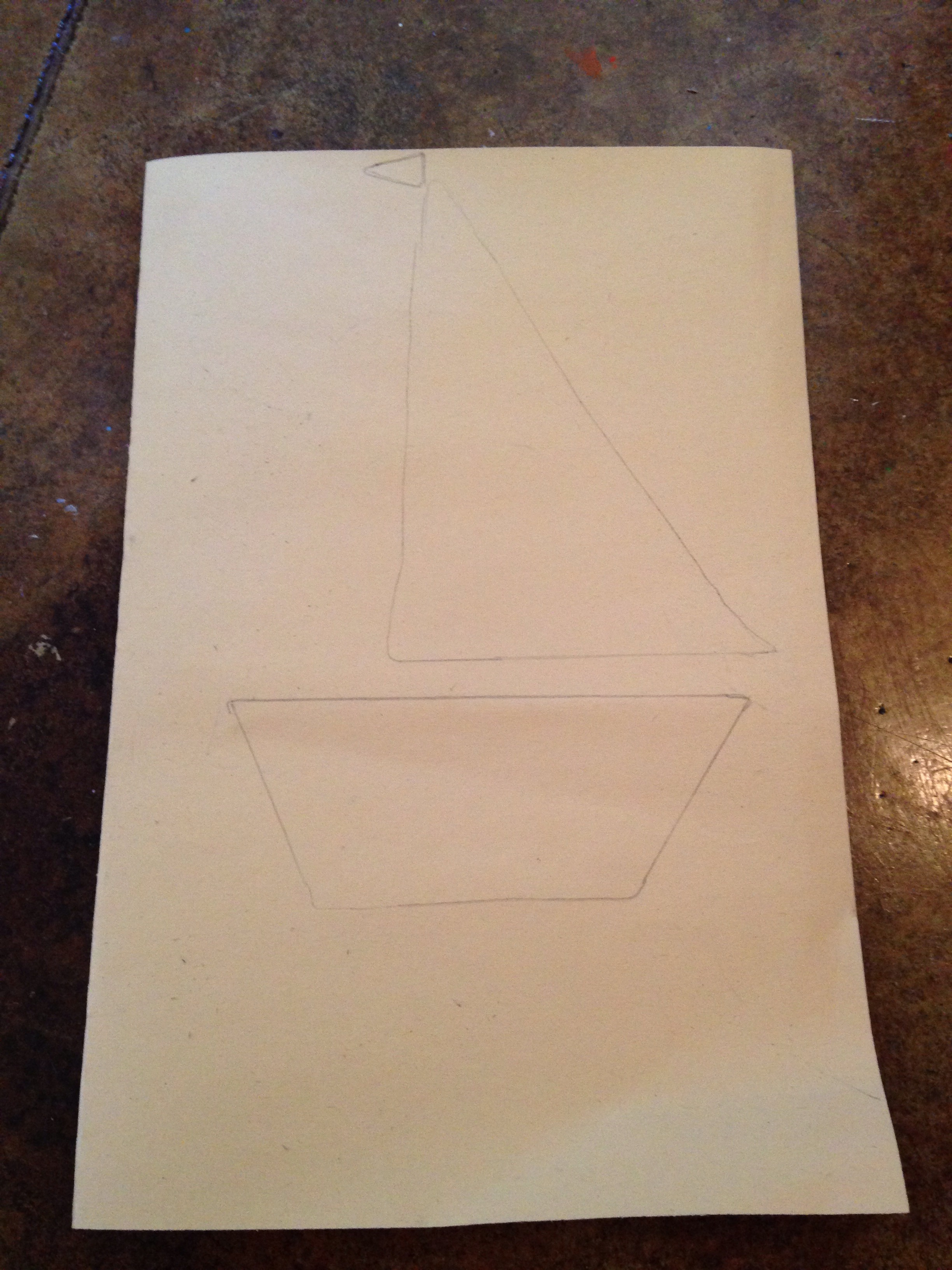 Picture of Start by Schetching  Out a Sailboat