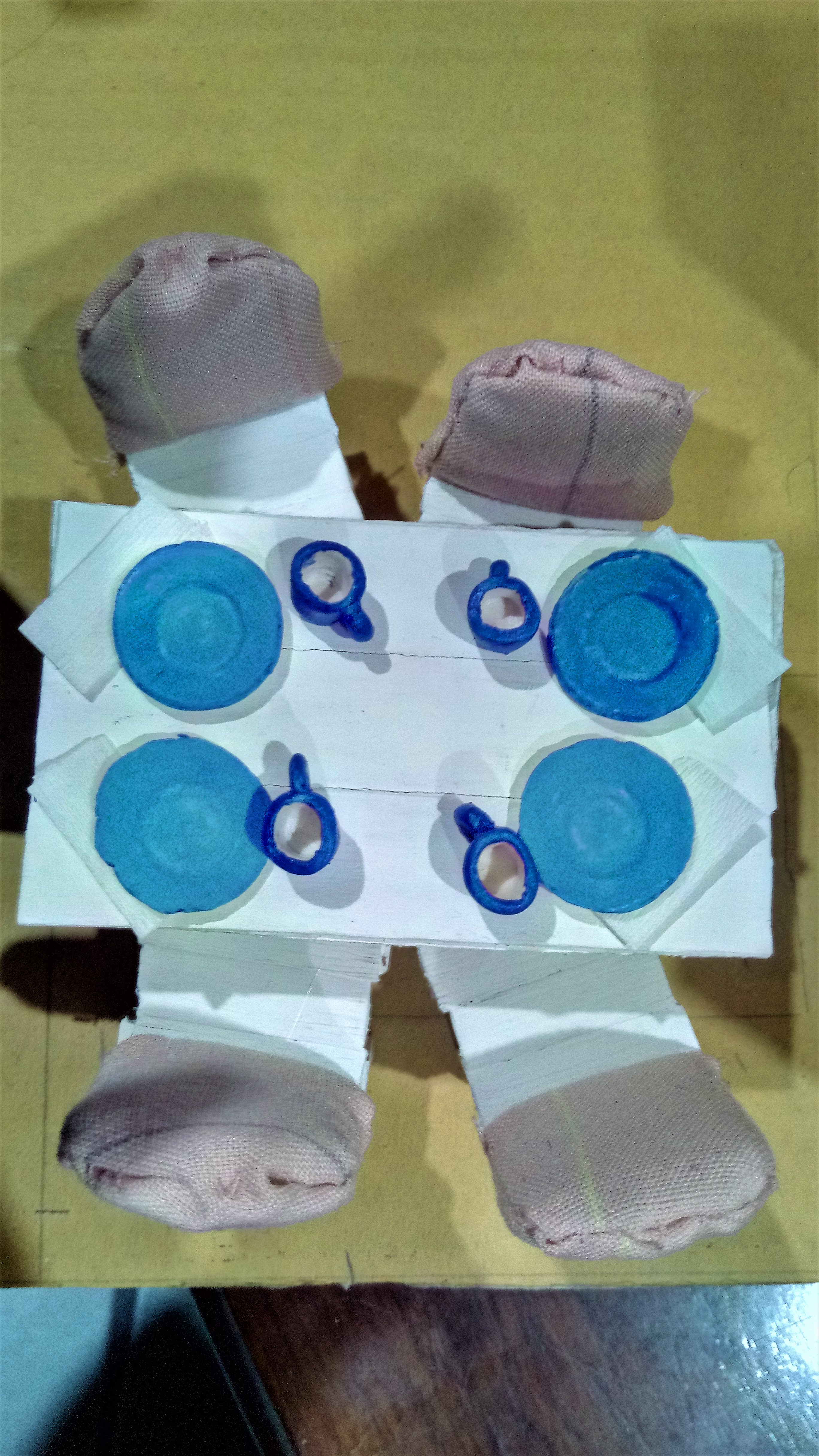 Picture of The Finished Plates & Cups on a Table