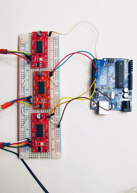 Picture of Breadboarding the Electronics