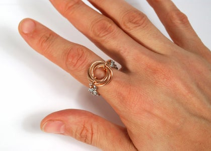 Chain Maille Jewelry - Lucky 7 Möbius Ring