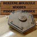Benzene Molecule Wooden Fidget Spinner