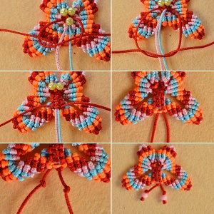 Make the Antlers of the Nylon Threads Butterfly