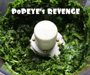 Popeye's Revenge - Raw Spinach Salad