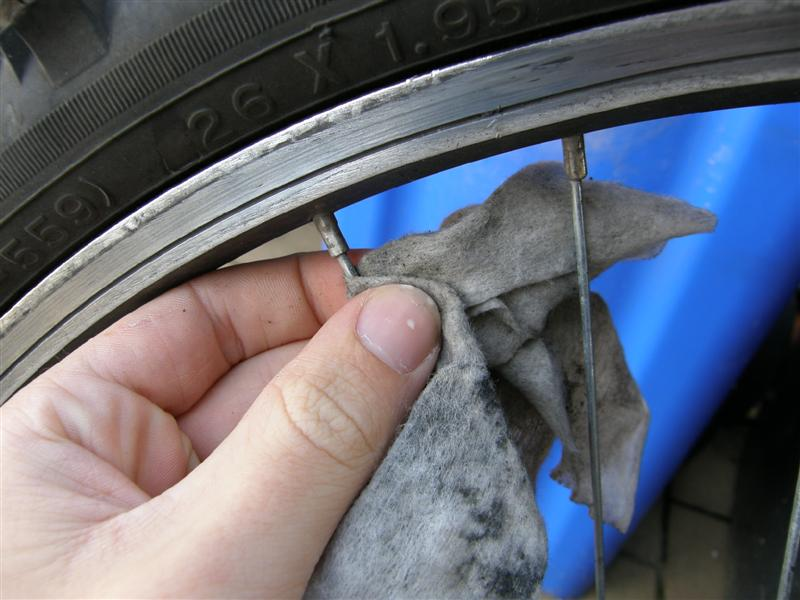 Picture of Cleaning Up the Rims.