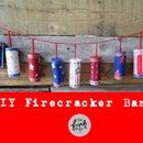 DIY Firecracker Banner