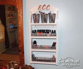 Simple DIY Makeup Organizer