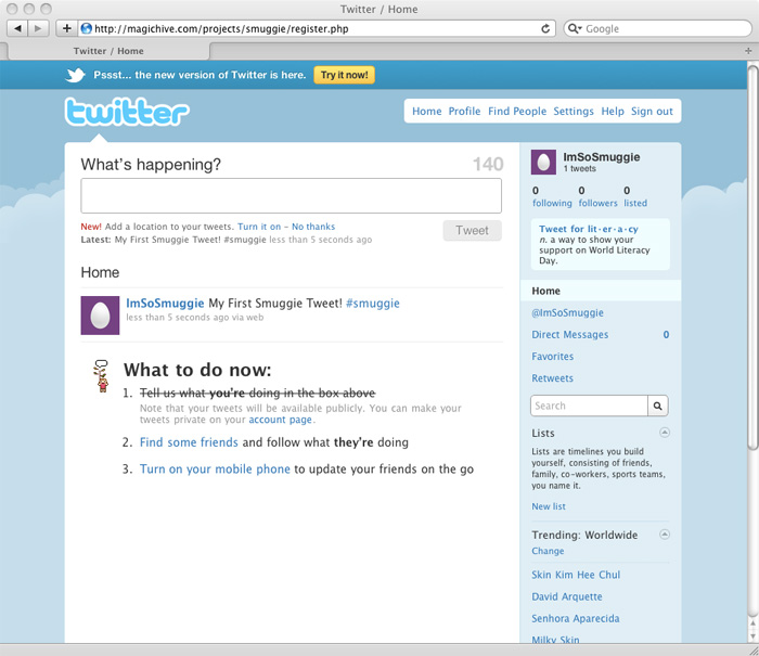 Picture of Twitter Setup