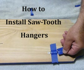 How to Install Sawtooth Hangers | Trick