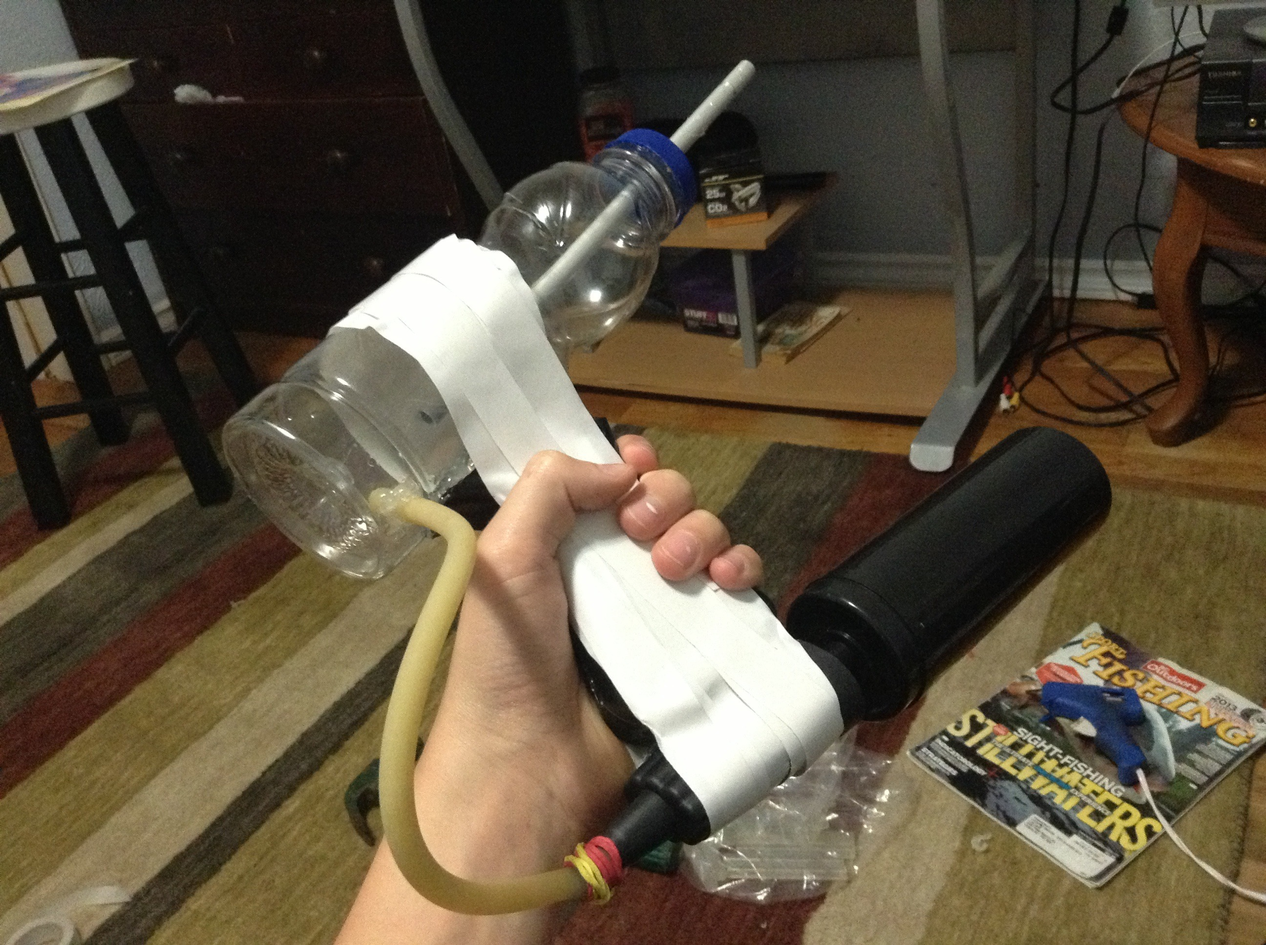 Picture of How to Make a Pump Action Airsoft/ Bb Machine Gun., Super Easy!!