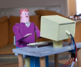Automaton driving leds and an office employee