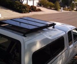 Installing a DIY roof rack for solar panels