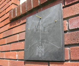 Vertical Sundial on Slate
