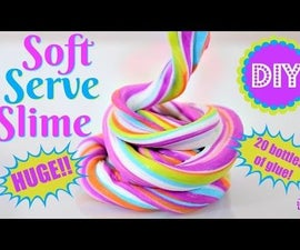 Soft Serve Slime/Bubblegum Slime! No Borax!
