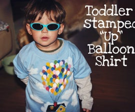 """Toddler-Stamped """"Up"""" Inspired Balloon T-Shirt"""