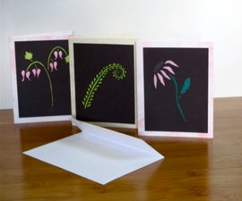 Tissue Paper Stained Glass Cards
