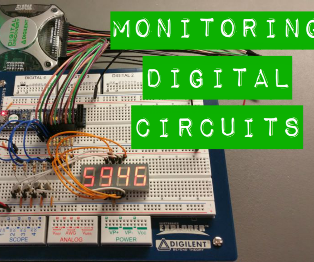 Monitoring Digital Circuits With The Discovery 10 Steps Analog Vs Circuit