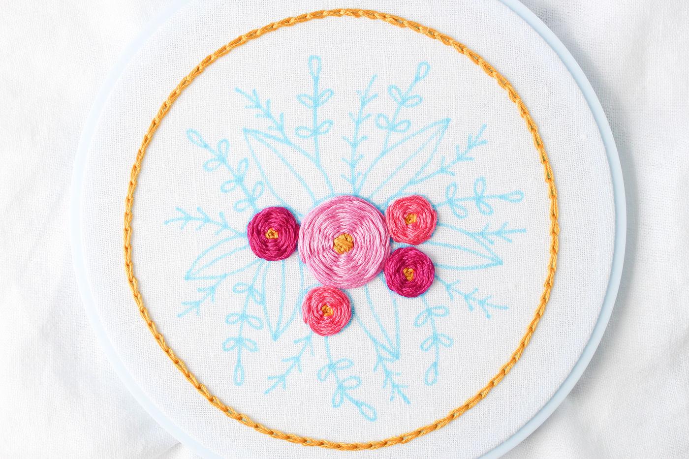 Woven Spider Wheels (Flower) Stitch