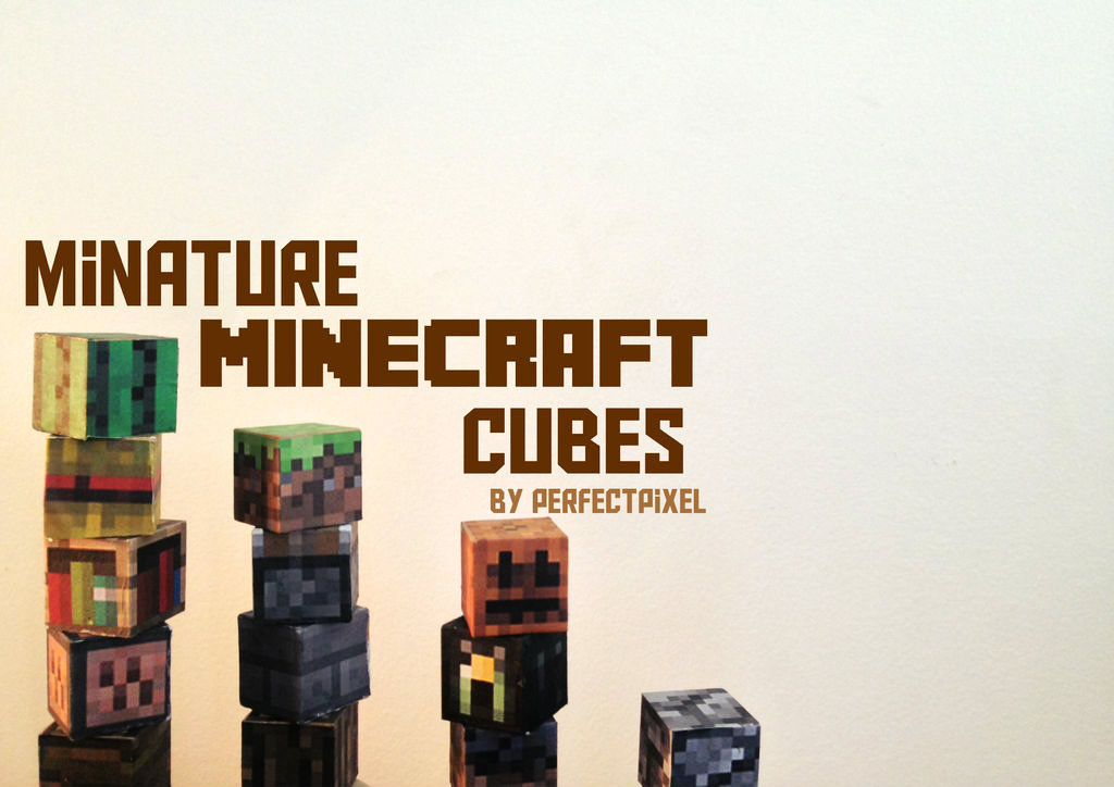 Picture of Miniature Minecraft Cubes!