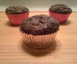 3 Ingredient ChocoBanana Peanut Butter Muffins