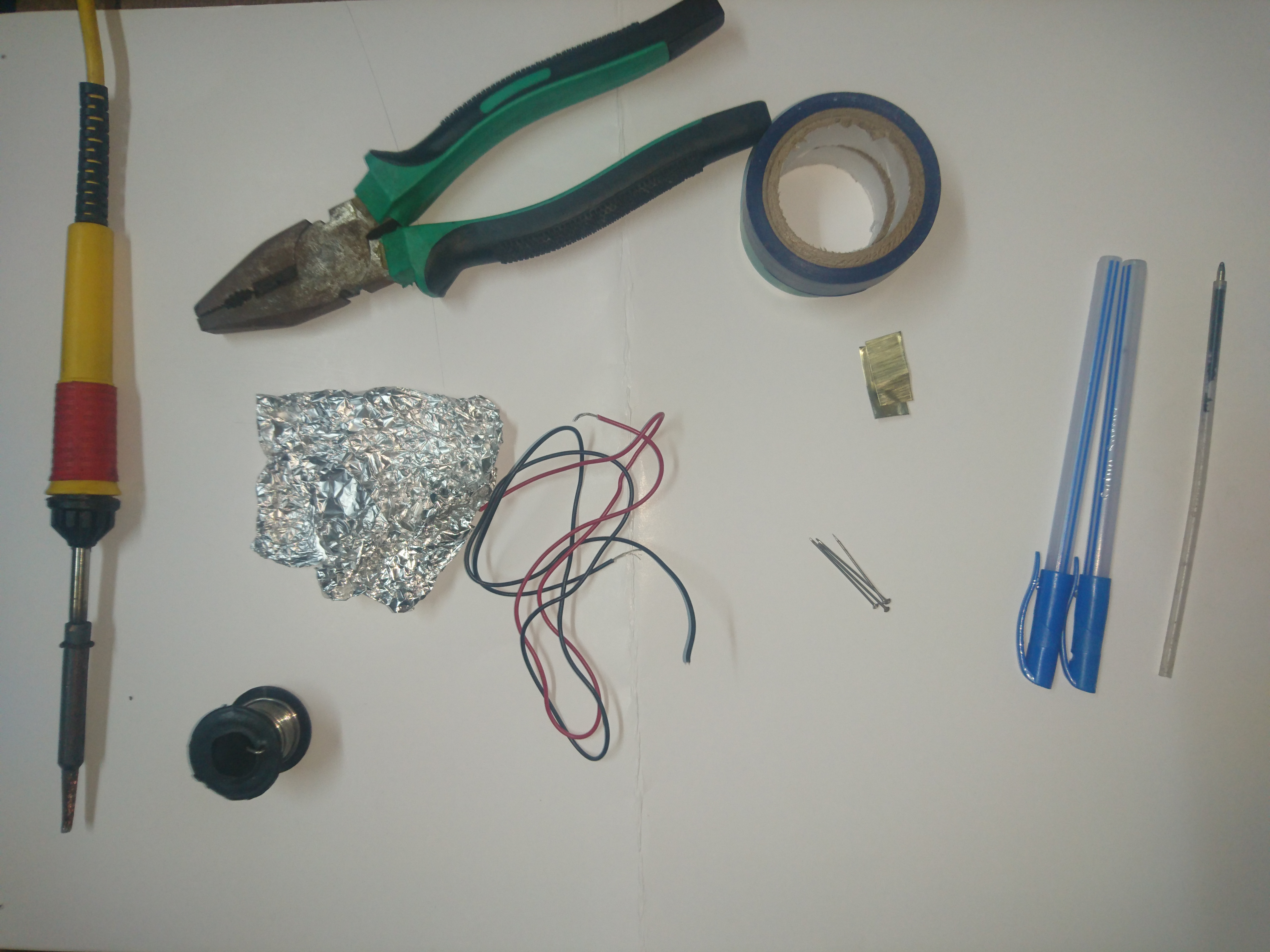 Picture of Materials Used: