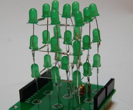 3x3x3 LED cube shield