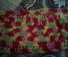 Warm crochet scarf