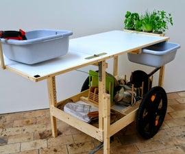 Mobile Kitchen, a bike trailer kitchen on gas