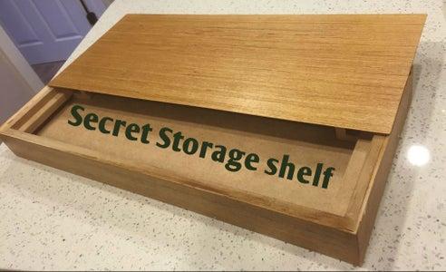 Secret Storage Wall Shelf