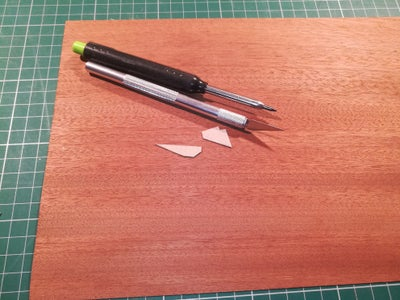 Glue the Wood Veneer on the Small Parts