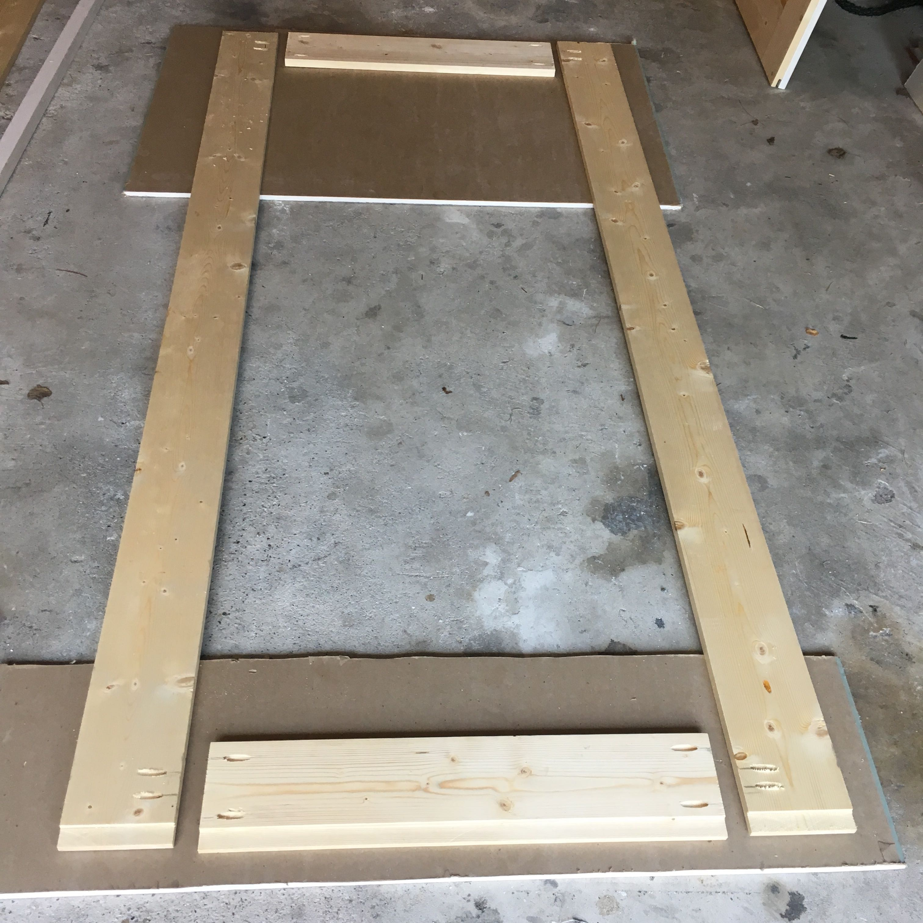 Picture of Cut Pieces for Door Frame