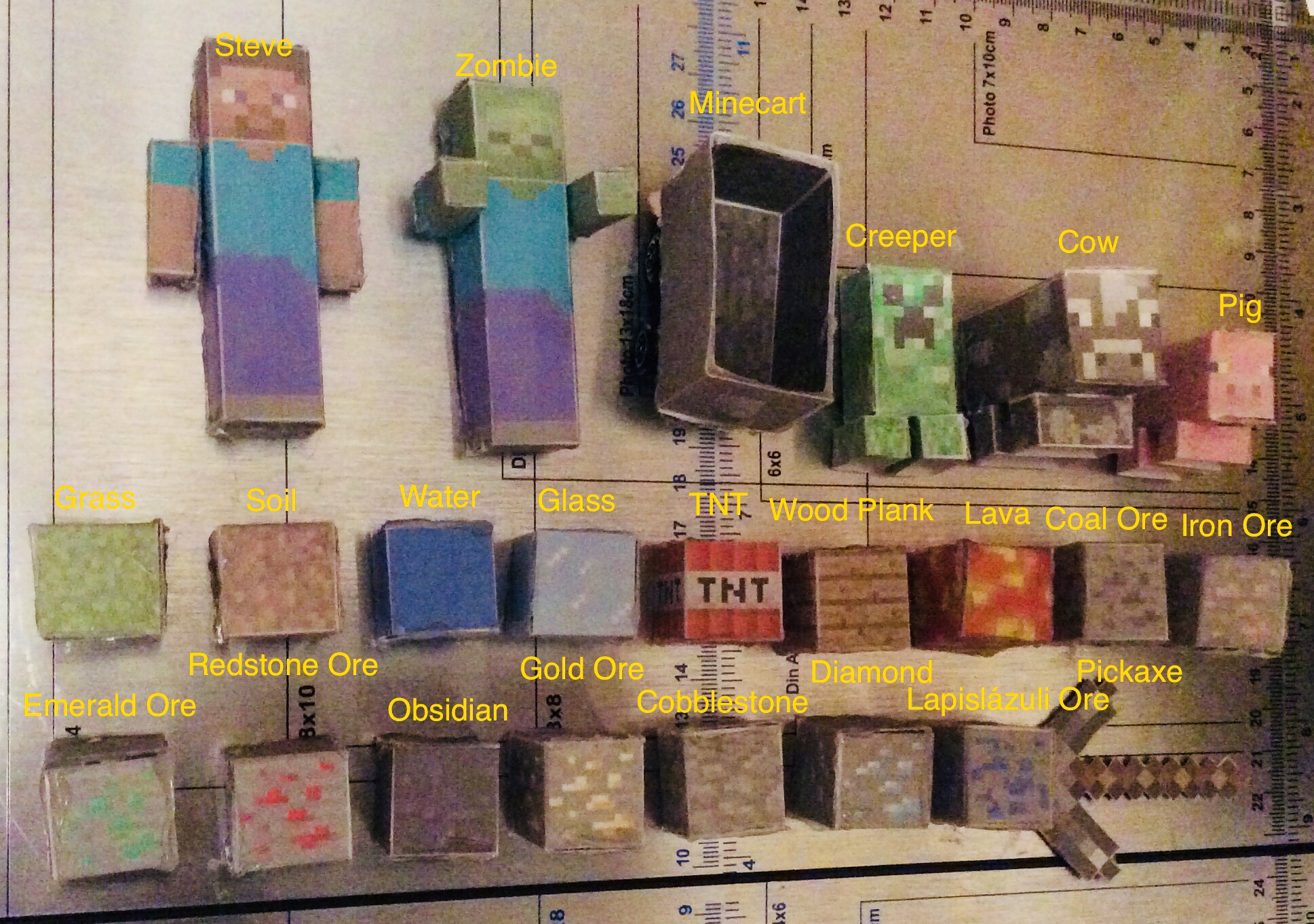 Picture of Cardstock Minecraft World